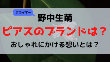 野中生萌ピアス